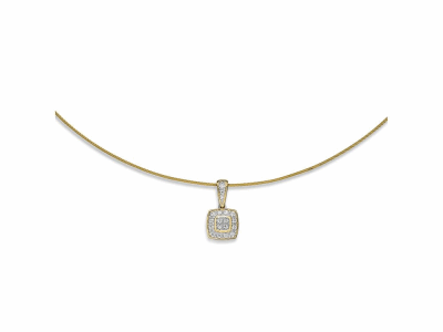 Yellow cable 1 row, 18 karat White Gold, 0.17     total carat weight Diamonds and stainless steel. Imported. - 08-37-S804-11