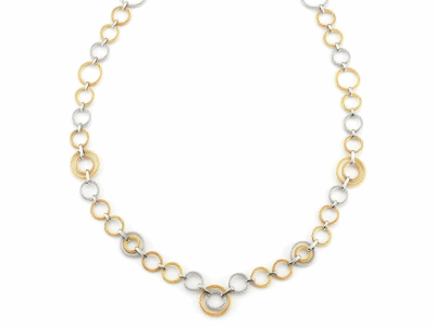 Rose cable, yellow cable and grey cable, 18 karat Yellow Gold, 0.01     total carat weight Diamond with stainless steel. Imported. - A8-36-S021-10