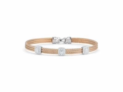 Collection: Sueno Style #: 10595 Description: Sueno 18K Yellow Gold large diamond-shaped artifact pull bracelet with white diamonds. Diamond Weight 0.41ct