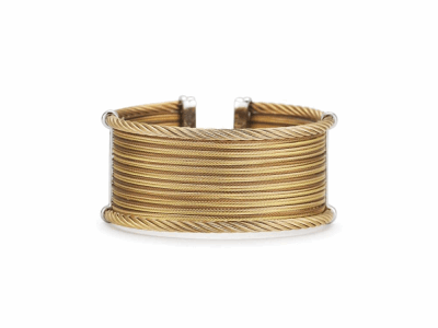 Yellow cable, rose cable and bronze cable, 18 karat Yellow Gold with stainless steel. Imported. - 04-59-0630-00