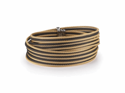 Black cable and yellow cable, 18 karat Yellow Gold with stainless steel. Imported. - 04-58-0500-00