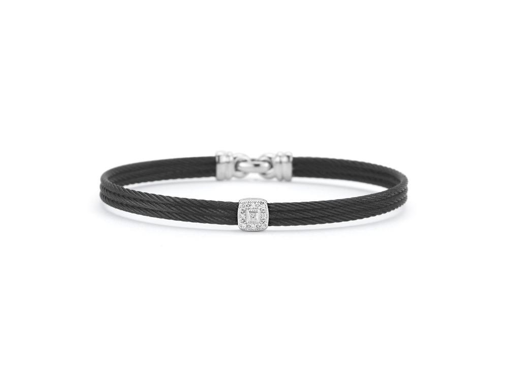 Noir Single Squared Station Bangle
