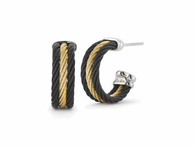 Black cable and yellow cable, 18 karat White Gold with stainless steel. Imported. - 03-58-0303-00