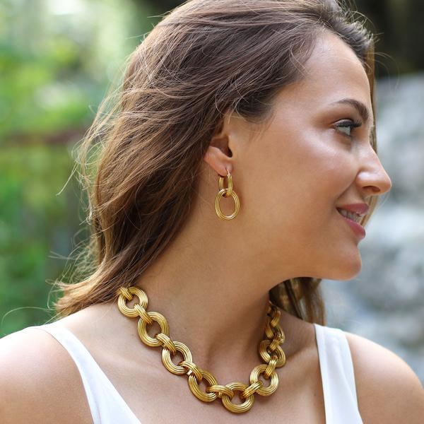 Byzantine Link Necklace - alternate