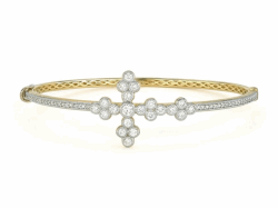 Closeup image for View Provence Cross Bangle - Provence Cross Bangle By Jude Frances