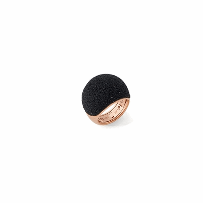Medium Dome Polvere Di Sogni Ring. Sterling Silver with an 18K Rose Gold  Vermeil. Ring contains adjustable butterfly tine along interior of the  ring for easy sizing