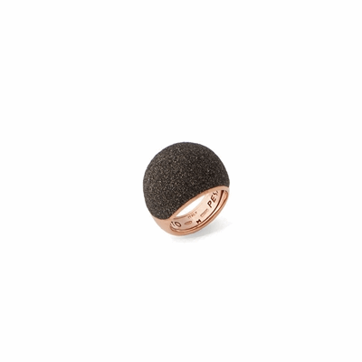 Medium Dome Polvere Di Sogni Ring. Sterling Silver with an 18K Rose Gold  Vermeil. Ring contains adjustable butterfly tine along interior of the  ring for easy sizing.