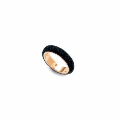 Mix & Match Stackable Polvere Di Sogni Ring. Sterling Silver with an 18K Rose Gold  Vermeil. Ring contains adjustable butterfly tine along interior of the  ring for easy sizing.