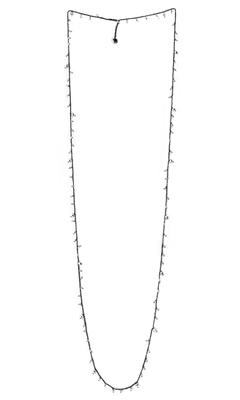 DNA Shine Single Strand Necklace w/Argento Hematite - Ruthenium - alternate
