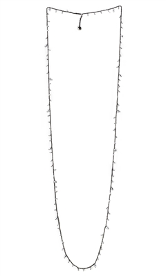 DNA Shine Single Strand Necklace w/ Argento Hematite. Sterling Silver with Ruthenium Plating.