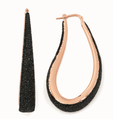 Large Polvere Di Sogni Teardrop Earrings. Sterling Silver with an 18K Rose Gold Vermeil.