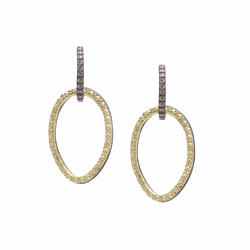 Closeup image for View Champagne Diamond Earring - 13566 By Armenta