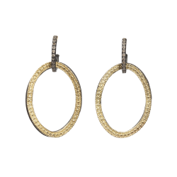 Closeup image for View Crivelli Hoop Diamond Earrings - Medium - 02101 By Armenta