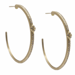 Closeup image for View Oval Coin Earring By Armenta