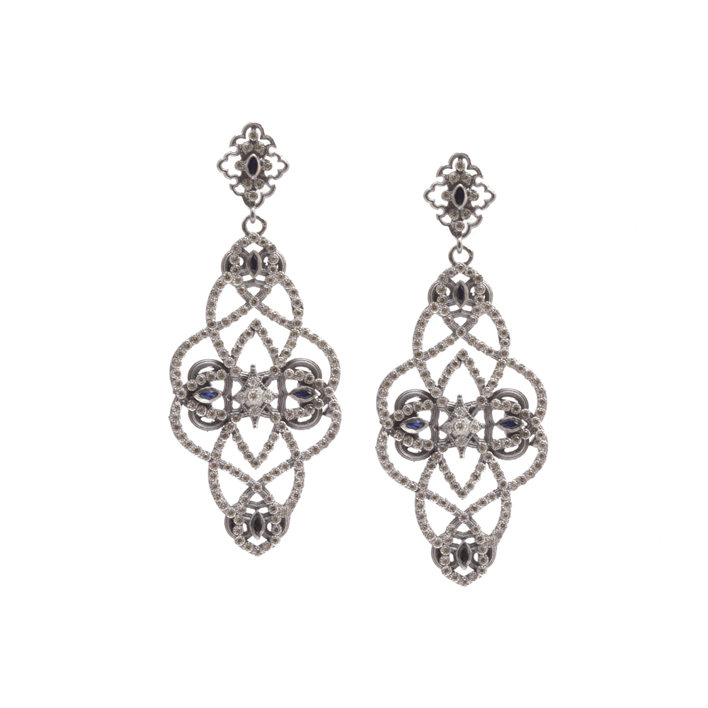 Armenta New World Crivelli Earrings w/ Diamonds IWdHwb
