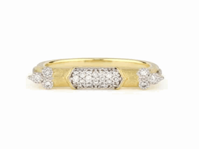 Jude Frances 18k Moroccan Diamond East-West Ring, Size 6.5