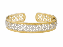 Closeup image for View Provence Continuous Diamond Quad Bangle - B22s15-Wd-6-5-Y By Jude Frances