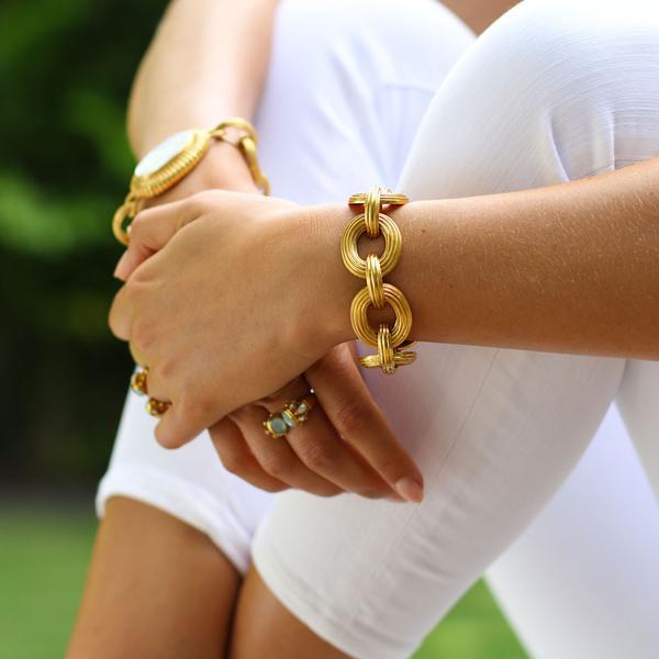 Byzantine Link Bracelet   - bl116g00 - alternate
