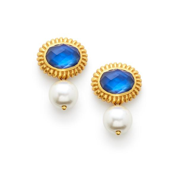 Byzantine Pearl Drop Earring - alternate