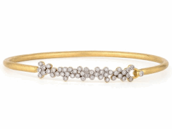 Closeup image for View Provence Champagne Delicate Quad Bangle By Jude Frances