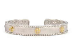 Closeup image for View Mixed Metal 18K Gold Narrow Beaded Maltese Cuff By Jude Frances