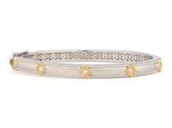 Closeup image for View Delicate Moroccan Long Stone Bangle By Jude Frances