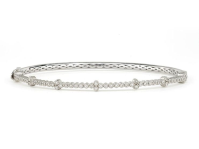 Jude Frances Delicate Lisse Pearl & White Topaz Bangle TLDWWFQ