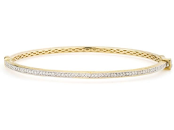 Closeup image for View Provence Champagne Narrow Bezel Bangle By Jude Frances