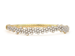 Closeup image for View Provence Champagne Delicate Quad Bangle  - B04f16-Wd-6.5-W By Jude Frances
