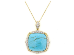 Closeup image for View Moroccan Marrakesh Cushion Stone Pendant - P04s17-Wms-Wdcb-Y By Jude Frances