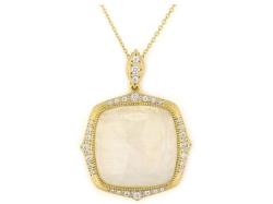 Closeup image for View Moroccan Marrakesh Cushion Stone Pendant - P04s17-Tq-Wdcb-Y By Jude Frances