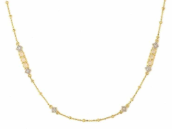 Closeup image for View Lisse Alternating Pave Flower Chain By Jude Frances