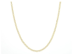 Closeup image for View Bezel Set Stone Chain With Alternating Elongated Clovers - Sc010e-Ms-Ws-32-Yl By Jude Frances
