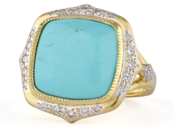 Closeup image for View Large Moroccan Stone Ring - R025q-Tq-Wdcb-6.5-Y By Jude Frances