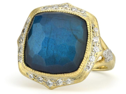 Closeup image for View Large Moroccan Stone Ring By Jude Frances