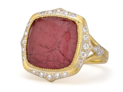 Closeup image for View Moroccan Long Stone Pave East West Ring - R22f16-Drt-Wdcb-6.5Y By Jude Frances