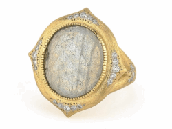 Closeup image for View Large Moroccan Stone Ring - R025q-Lbd-Wdcb-6.5-Y By Jude Frances