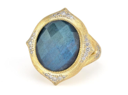 Closeup image for View Large Moroccan Stone Ring - R025q-Lbd-Wd-6-5-W By Jude Frances