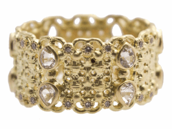 Closeup image for View Mixed Metal Narrow Beaded Maltese Cuff With Gold Accents By Jude Frances