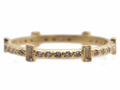 Coleção  SuenoStyle    13537Descrição  anel de pilha de baguetes de 6 tons  de 2abae82e99