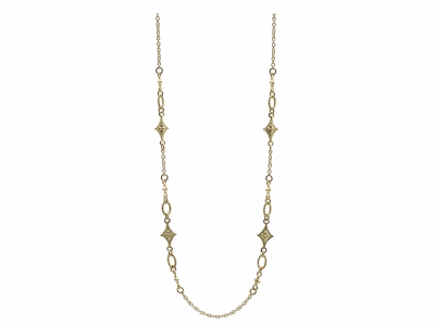 "Collection: Sueno Style #: 13509 Description: Sueno 18k yellow gold 16""-18"" crivelli chain necklace.Metal: 18k Yellow Gold"
