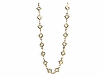 "Collection: Sueno Style #: 13508 Description: Sueno 18k yellow gold 15.5""-16.5"" short multi-scroll necklace with toggle closure.Metal: 18k Yellow Gold"