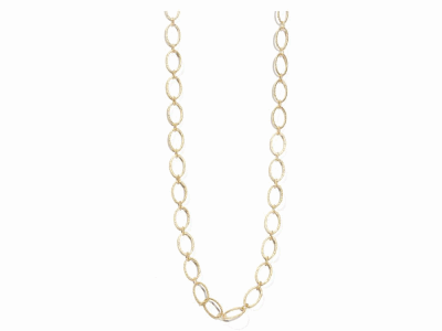 "Collection: Sueno Style #: 01318 Description: 18k Yellow Gold 35.5"" flattend oval link necklaceMetal: 18k Yellow Gold"