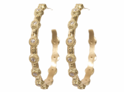 Closeup image for View 18K Yellow Gold Hoop - 06495 By Armenta