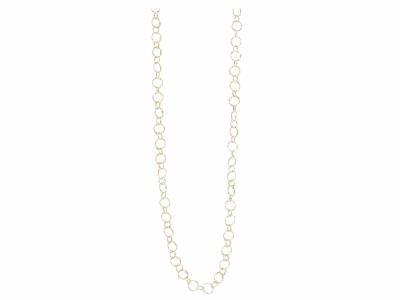 "Collection: Sueno Style #: 05778 Description: 18k Yellow gold 35"" circle link necklaceMetal: 18k Yellow Gold"