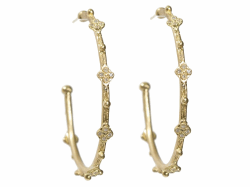 Closeup image for View 18K Yellow Gold Earrings - 9671 By Armenta
