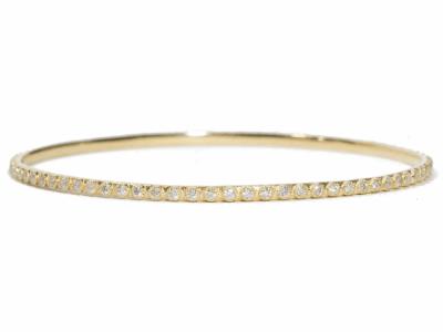 Collection: Sueno Style #: 06404 Description: Sueno 18k yellow gold bangle bracelet with 1.7mm white diamondsMetal: 18k Yellow Gold