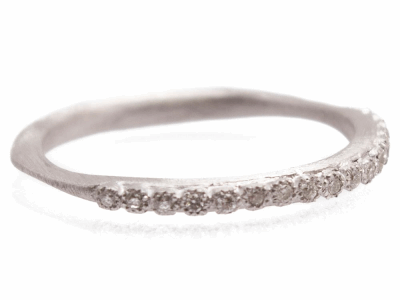 Collection: New WorldStyle #: 10760Description: New World 1mm white diamond stack ring. Diamond Weight 0.09ct