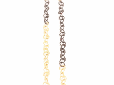"Collection: Old World Style #: 01669 Description: 18"" Old World/Yellow Gold Small 7mm round link chain.Metal: .925 Sterling SilverS/18k Yellow Gold"