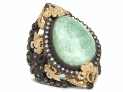 Closeup image for View Green Turquoise Ring - 06597 By Armenta